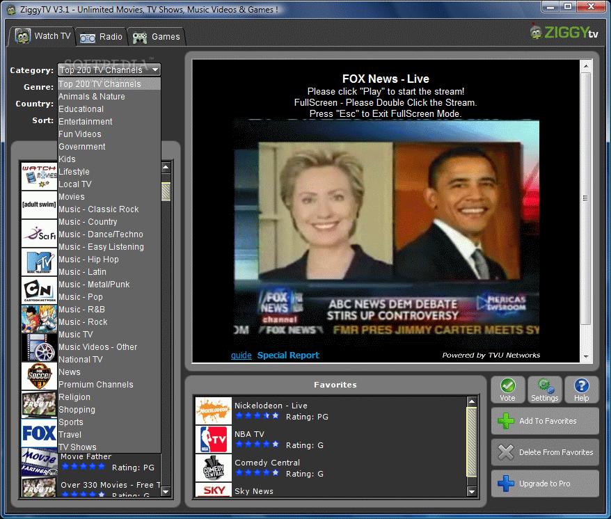 تحميل برنامج مشاهدة قنوات التلفزيون على النت مجانا Ziggy TV