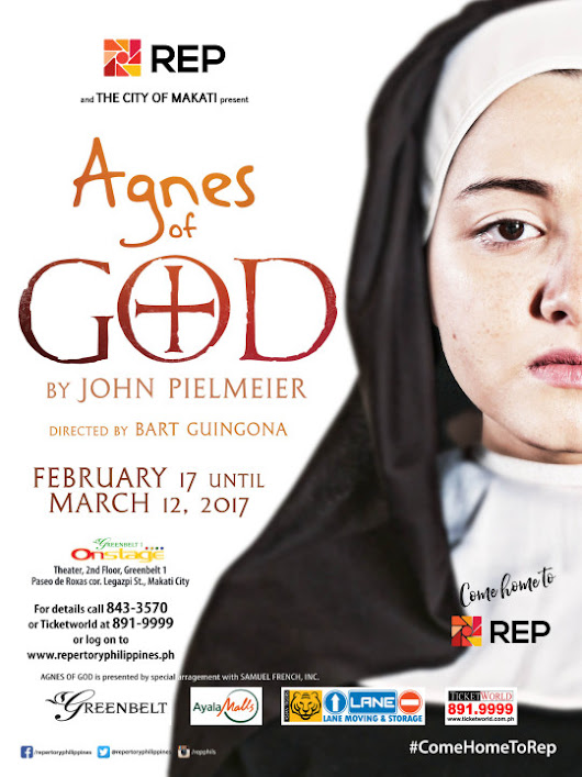 Repertory Philippines' second play for 2017 - Agnes of God