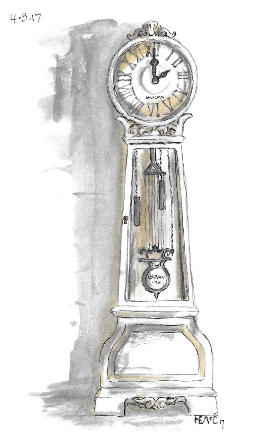 Scribble Picnic: Grandfather Clock