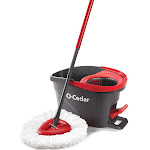 O Cedar Easy Wring Spin Mop and Bucket System, Red, OS