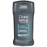 Dove Men Plus Care Powerful Protection Antiperspirant Deodorant, Clean Comfort - 2.6 Oz