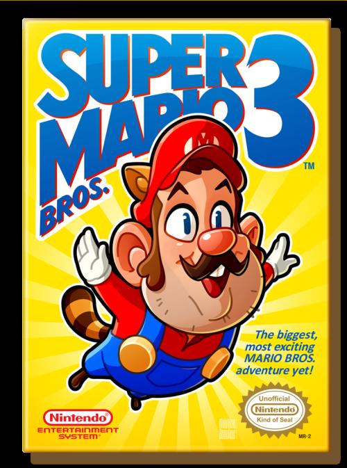 Super Mario Bros. 3 (1990 US) Nintendo Entertainment System Box Art Tribute