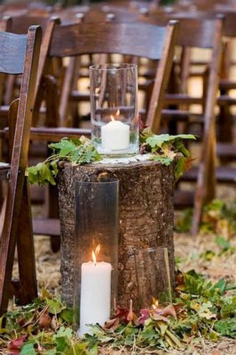 DIY Wedding Ideas. Tree Stumps And Leaves For A Fall