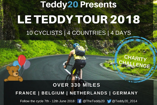 Click here to support Le Teddy Tour 2018 Charity Cycle organised by Alan Parker