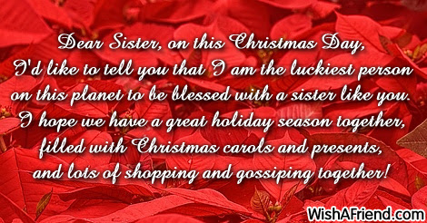 Christmas Messages For Sister