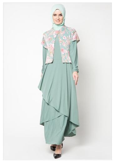 Baju Gamis Variasi Brokat Hijab Nemo