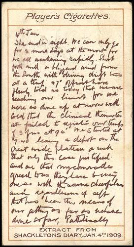 Shackleton's Diary, 1909