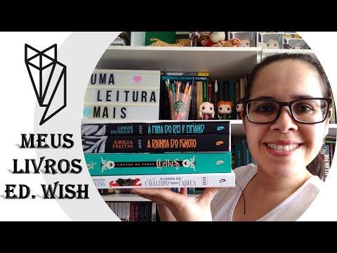 Depois de muito tempo gravei um vídeo! Meus livros da Editora Wish
