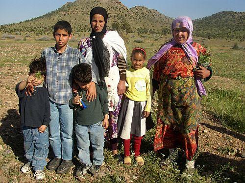 """Muchos """"moros"""" son de origen bereber, como esta familia marroquí"""