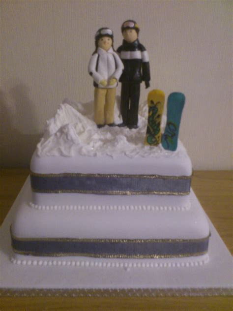 Snowboarders Wedding Cake « Susie's Cakes