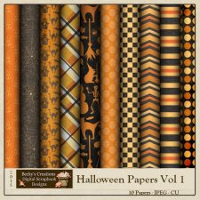 Halloween Papers Volume 1 by Beckys Creations