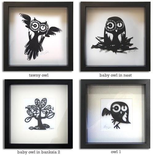 My Owl Barn Melbourne Style Paper Cut Art