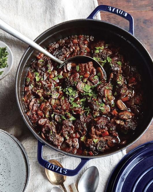 Authentic French Beef Bourguignon Recipe from Staub's New Cookbook
