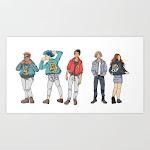Art Print | Cobra Kai Kids by Clautastic - X-Small - Society6