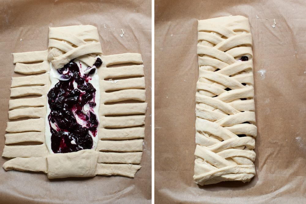 Poires au Chocolat: Blueberry Braided Bread: A Guest Post