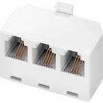 Insignia - 3-Line Phone Cord Splitter - White NS-TPTJW