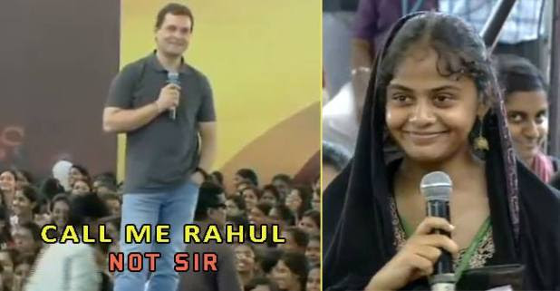 'Call me Rahul' says Rahul Gandhi at a college campaign as it sounds more comfortable