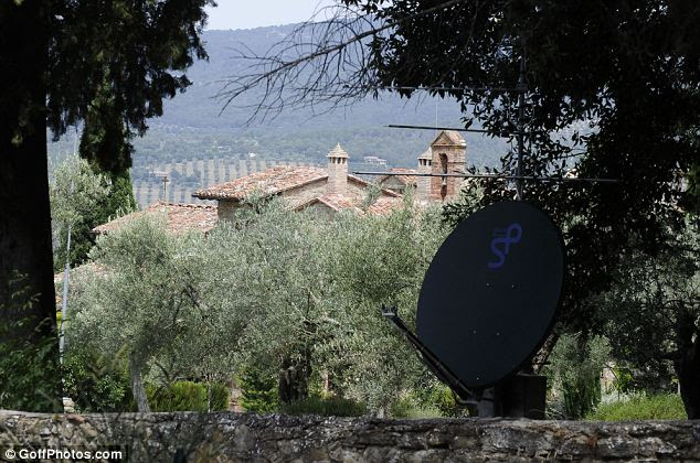 Tucked away: George Lucas's villa in Passignano sul Trasimeno, Italy