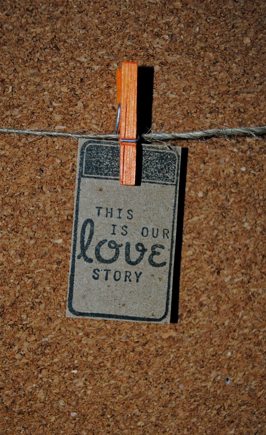 10 This is our Love story unique rustic small tags