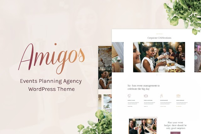 Amigos - Party & Celebration Event Agency Wordpress Theme by cmsmasters