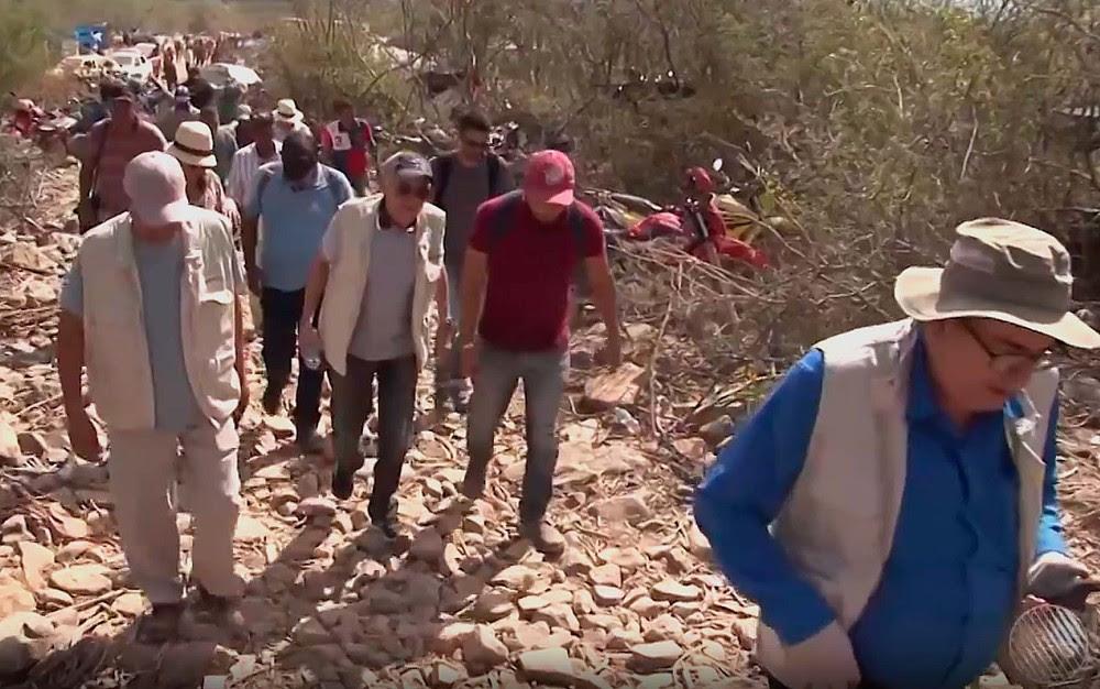 Técnicos da DNPM visitaram jazida no norte da Bahia (Foto: Imagem/TV Norte)