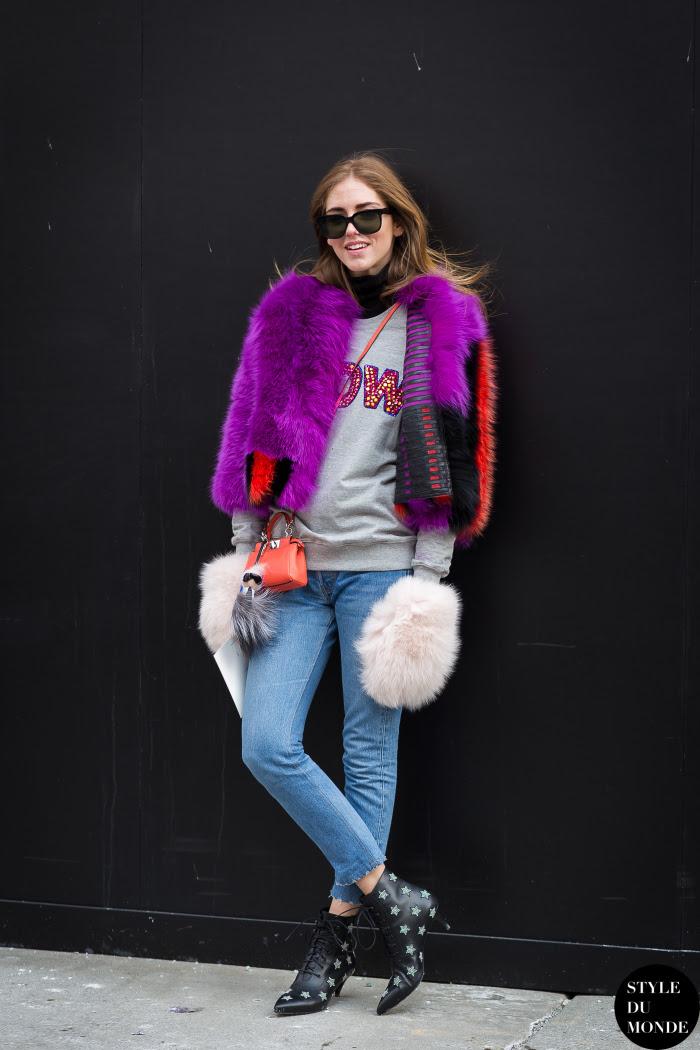 Chiara Ferragni The Blonde Salad Street Style Street Fashion Streetsnaps by STYLEDUMONDE Street Style Fashion Blog