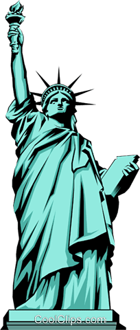自由の女神 ロイヤリティ無料ベクタークリップアートイラスト Arch0220