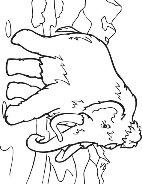 wooly mammoth coloring page  kids  printable picture