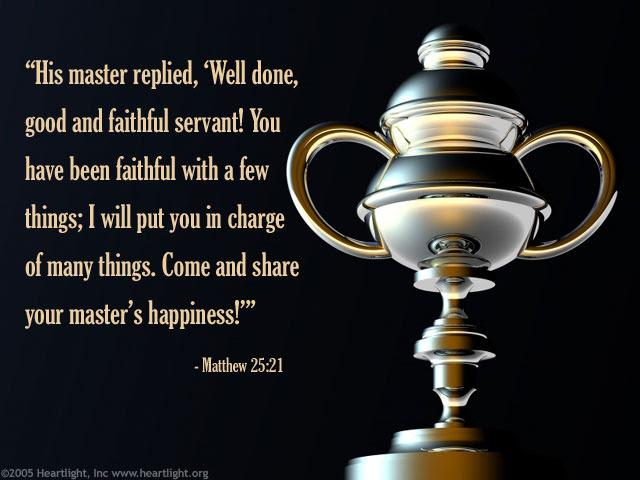Inspirational illustration of Matthew 25:21