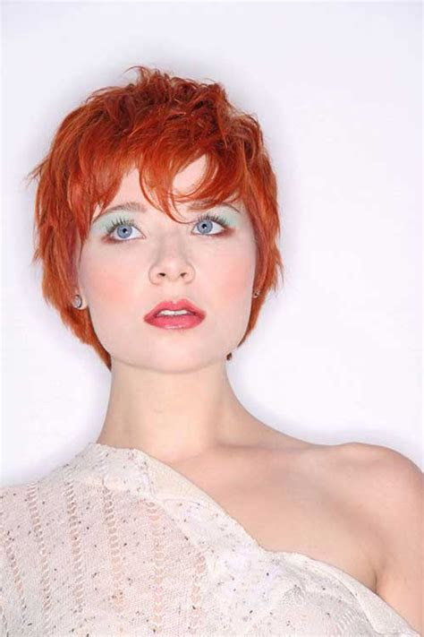 red pixie hair short hairstyles