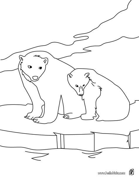 polar bears coloring pages hellokidscom