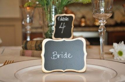 Elegant Wedding Chalkboard Table Frames AUDREY style Place Settings Sign