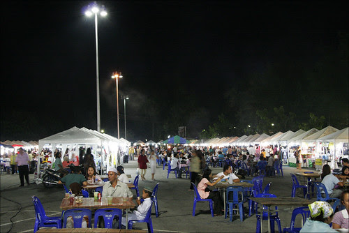 The food court after dark