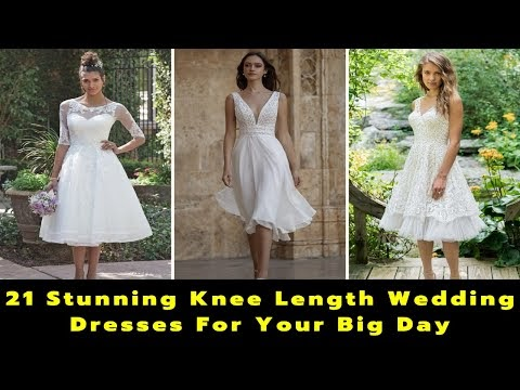 21 Exclusive Knee Length Wedding Dresses | Knee Length Bridal Gowns | What To Wear To a Wedding