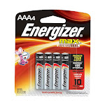 Energizer Alkaline Battery E92Bp, Size: AAA - 4 Each Per Pack
