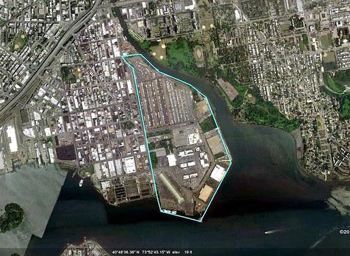 Hunts Point Market (via Google Earth)