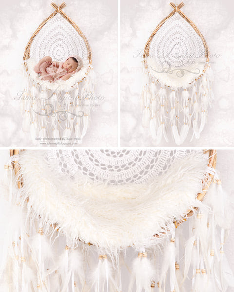 Wooden Dream Catcher With Light Background And Texture - Beautiful Digital backdrop Newborn Photography Prop download - psd with Layers