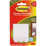3M 446477 Command Medium Picture Hanging Strips-White 3 Sets-Pkg