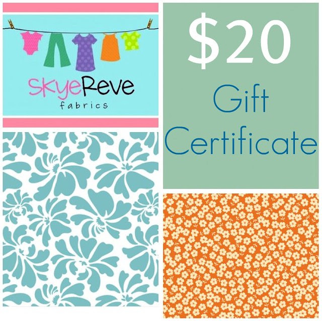 Friday Giveaway sponsored by Skye Reve Fabrics