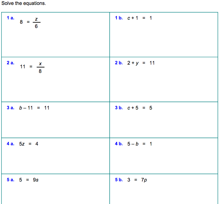 6th Grade » Solving Equations Worksheets 6th Grade  Printable Worksheets Guide for Children and