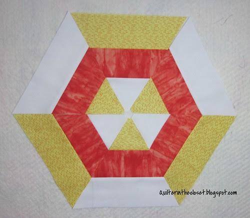 Candy corn hexagon
