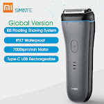 Global Version Xiaomi Smate Electric Shaver Men Razor Type-C USB Rechargeable Fast Charge Dry Wet Use Full Body Washable Shaving Machine with 3 Blades