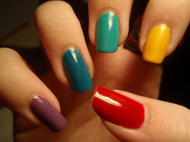 Lin's Lacquer: Rainbow Colored Nails