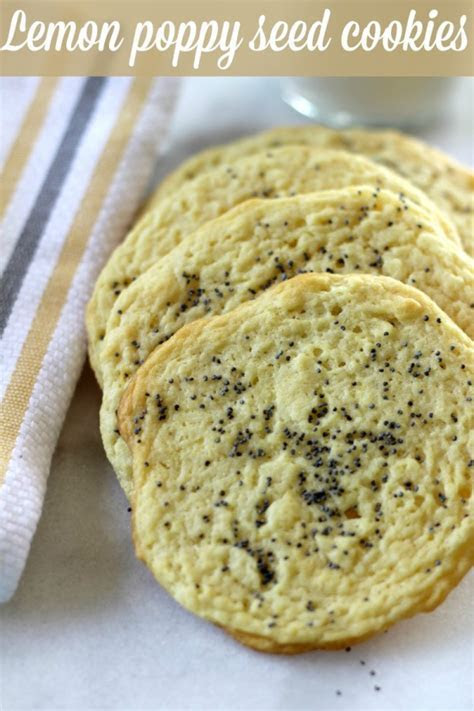 Lemon Poppy Seed Cookies   Pretty My Party   Party Ideas