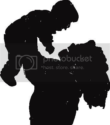Mother and baby family silhouette clipart images for wholesale websites.