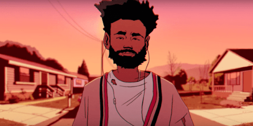 Watch Childish Gambino aka Donald Glover's official animated music video for 'Feels Like Summer' featuring...