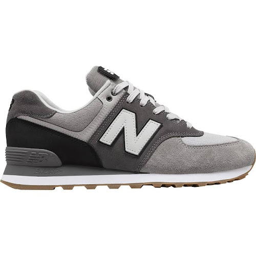 new balance 574 black with marblehead and white