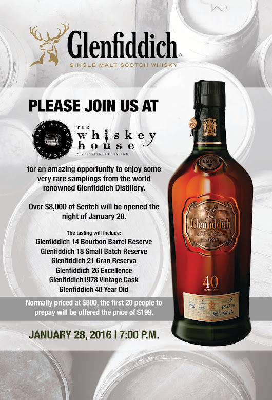 Glenfiddich Tasting - San Diego Whiskey Bar | The Whiskey House