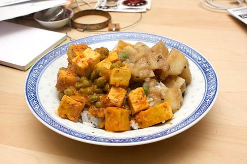 tofu and pea curry