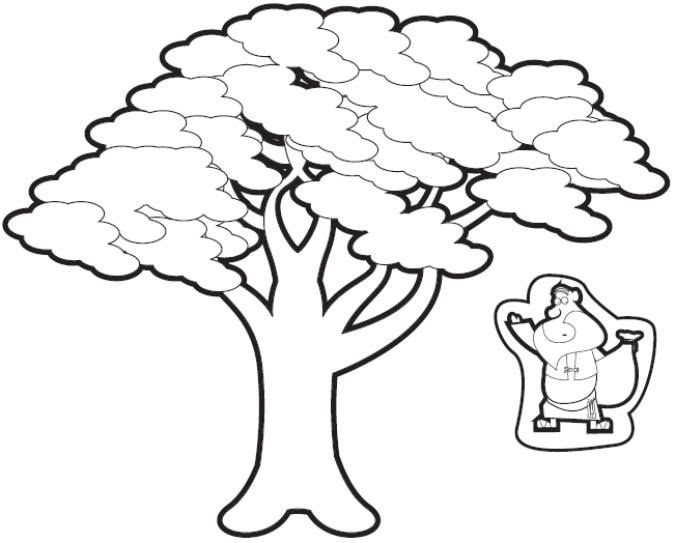 Zacchaeus Coloring Pages « Crafting The Word Of God | 543x675